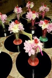 s theme centerpieces  centerpieces and sock hop party with easy diy s themed centerpieces from pinterestcom