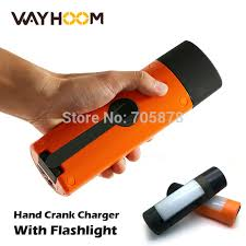 hand crank led light portable power bank crank led torch flashlight rachargeable cing