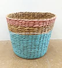 long time usage hand woven water hyaicnth food basket eco friendly