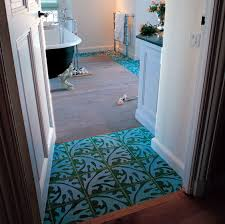 bathroom encaustic cement tile floor wall patterned algue