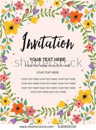Wedding Card Design Background Floral Wedding Invitation Stock Images Royalty Free Images