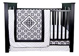 Black And White Crib Bedding Set Trend Lab Versailles Black And White 3 Crib