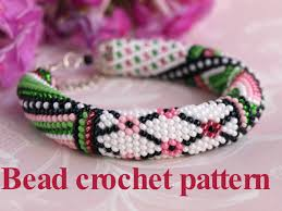 bead crochet rope bracelet images Patchwork pattern bead crochet pattern pdf tutorial crochet rope jpg