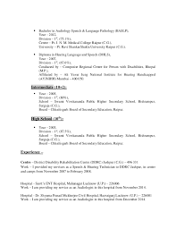 Sample Speech Pathology Resume by Resume Imran Ansari