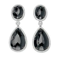dimond drop david rosenberg stunning black diamond drop earrings for sale at