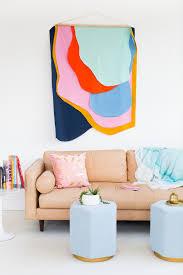 colorful diy fabric wall hanging sugar u0026 cloth