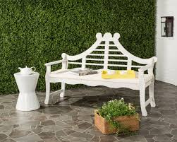 Safavieh Home Furnishing Pat6741c Garden Benches Outdoor Home Furnishings Furniture By