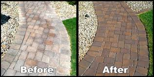 Painting Patio Pavers Painting Patio Pavers Paver Sealing New Before And After