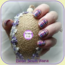 easter basket weave nail art pointless cafe