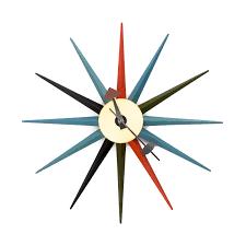 modern wall clocks mid century style wall clocks
