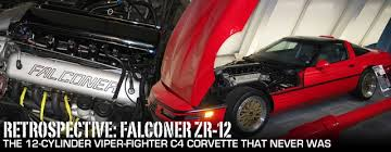 corvette v12 falconer zr 12 the viper fighter corvette that never was