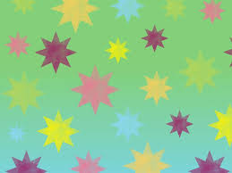 retro colorful stars backgrounds for powerpoint templates ppt