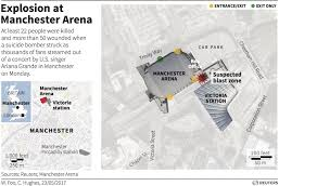 22 dead in explosion at ariana grande concert in manchester and