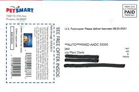 Petsmart Cashier Pay Mail That Fails September 2010