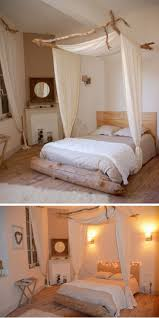 how to make a canopy bed with curtain rods amys office