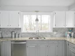our oak kitchen makeover gray subway tiles white cabinets and