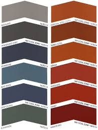 Roof Tile Paint Colour Charts Powerclean Roof Restoration