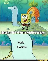 Me Me Me 2 - there are only 2 genders know your meme