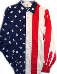 American Flag Suspenders Ladies Red White Blue American Flag Pearl Snap Western Shirt