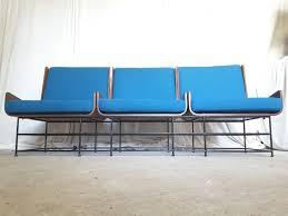 mid century modern bench blue med art home design posters