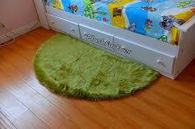 Olive Green Shag Rug Half Moon 5 U0027 Faux Fur Shaggy Area Rug Olive Green Fur