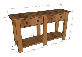 Diy Console Table Plans Ana White Benchwright Console Table Diy Projects
