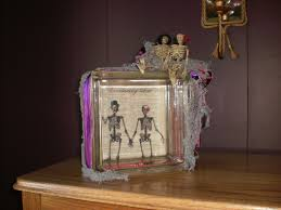 recycled glass block halloween decoration rustic creations and