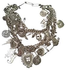 chunky necklace chain images Betsey johnson silver runway bj heart skull chain trash chunky jpg