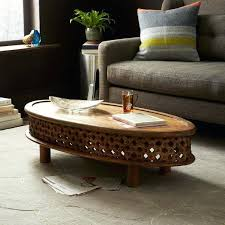 west elm wood coffee table carved wood coffee tables west elm side table bamileke round paragonit
