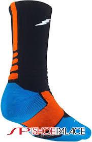 Nike Hyper Elite Quarter Socks Nike Sx4814 048 Kd Hyper Elite Basketball Mens Crew Socks Black