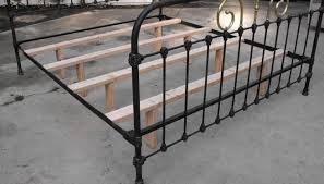 fresh antique cast iron queen bed frame 8278