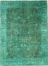 Turquoise Persian Rug Green 9 U0027 X 12 U0027 Over Dyed Ziegler Oriental Rug Oriental Rugs