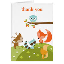 woodland animals note cards zazzle
