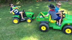 gator power wheels john deere backyard bosses 1 powerwheels gator tractor and