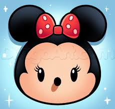 draw tsum tsum minnie mouse step step disney