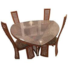 Bamboo Dining Table Set Danny Ho Fong Dining Table Set And Four Side Chairs Rattan Wicker