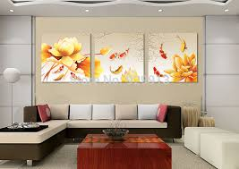 Feng Shui Colors For Living Room Walls Aliexpress Com Buy Framed 3 Panel Wall Art Chinese Oil Painting