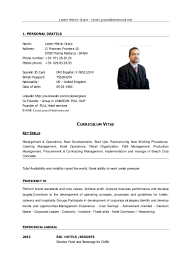 Resume Format Pdf For Hotel Management by Sample Resume Of Hotel General Manager Templates
