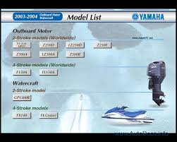yamaha outboard motors u0026 watercraft jetski repair manual 2003