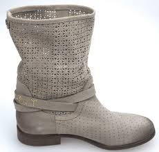 biker ankle boots twin set woman biker ankle boot taupe juta perforated suede code