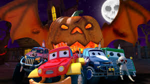 monster truck dan jack o lantern halloween rhymes and song for