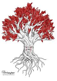 weirwood tree design by phatboyart on deviantart