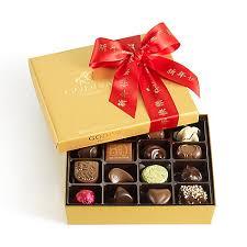 new year box assorted chocolate gold gift box new year ribbon 19 pc