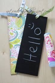 awesome recycled cereal box chalkboard tags