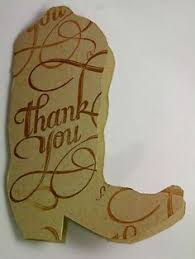 cowboy thank you cards cowboys thank you cards and etsy