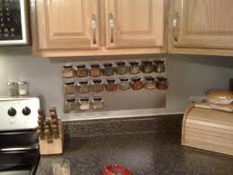Where To Buy Kitchen Backsplash Kitchen Backsplash Wall Hanging Spice Rack Under Wooden Cabinets