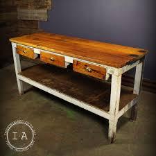 vintage industrial butcher u0027s workbench desk 6 u0027 table kitchen