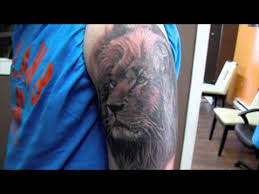 realistic lion tattoo youtube