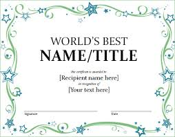 word certificate template 31 free download samples examples