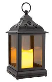 Flameless Candle Sconces With Timer Black Lantern W Timer Led Flameless Candle Holder Lamp Light